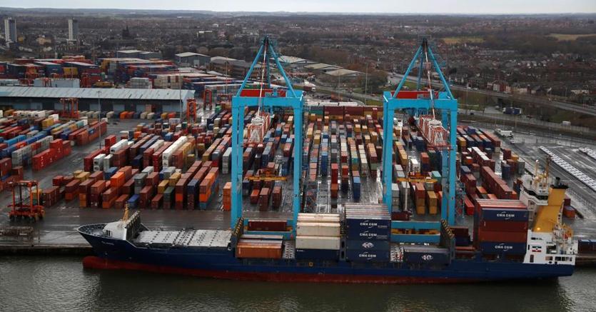 Una nave container